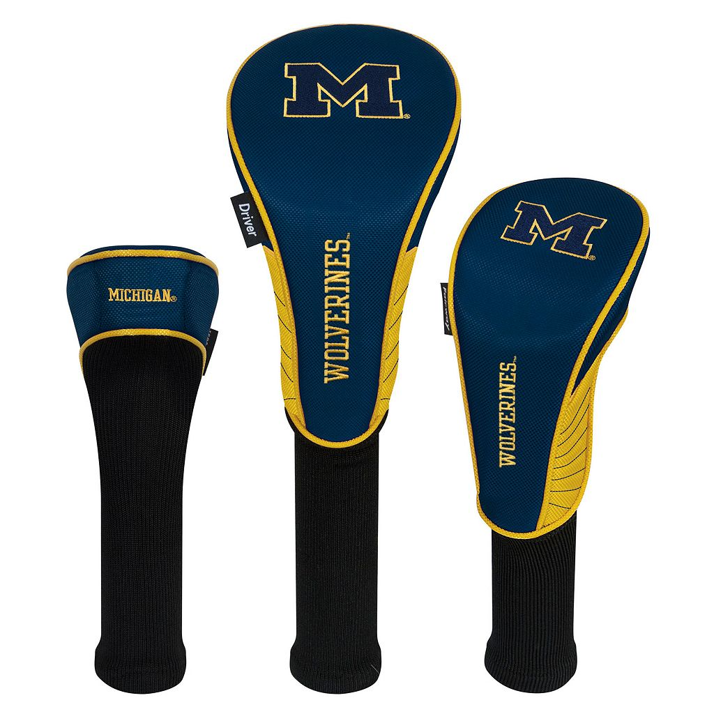 Team Effort Michigan Wolverines 3-Piece Club Head Cover Set