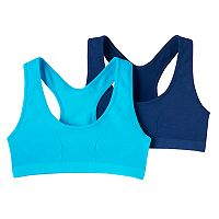 Girls 7-16 Maidenform 2-pk. Seamless Racerback Sports Bras