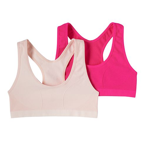 1ef295f981 Girls 7-16 Maidenform 2-pk. Seamless Racerback Sports Bras