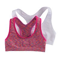Girls 7-16 Maidenform 2-pk. Space-Dyed & Solid Seamless Sports Bras