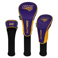 Team Effort Northern Iowa Panthers 3 pc Club Head Cover Set