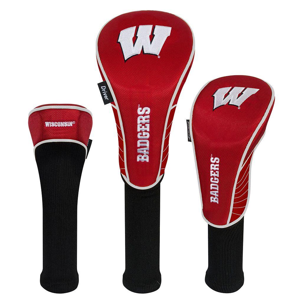 Team Effort Wisconsin Badgers 3-Piece Club Head Cover Set