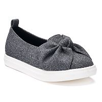 SO® Miranda Girls' Velvet Flats