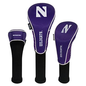 Team Effort Northwestern Wildcats 3-Piece Club Head Cover Set