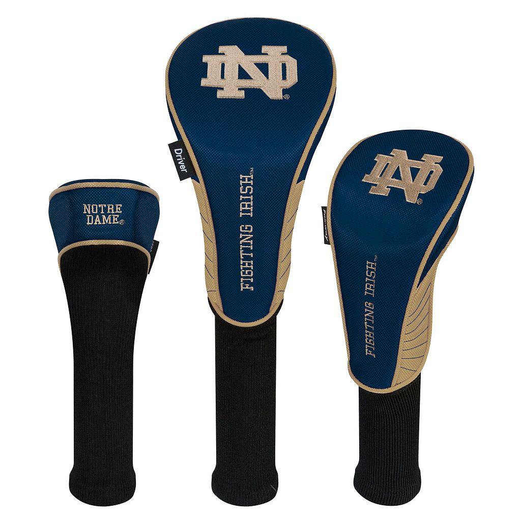 Team Effort Notre Dame Fighting Irish 3-Piece Club Head Cover Set