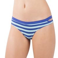 Juniors' Lemon & Bloom Elastic Cutout Thong Panty LBF17105