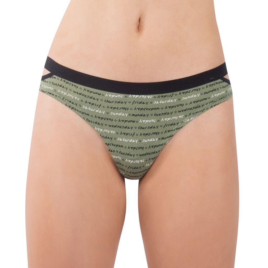 Juniors' Lemon & Bloom Elastic Cutout Thong Panty LBF17105