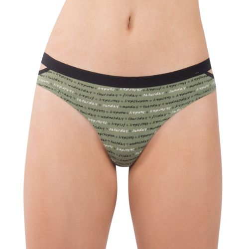 Juniors' Lemon &Amp; Bloom Elastic Cutout Thong Panty Lbf17105 by Kohl's