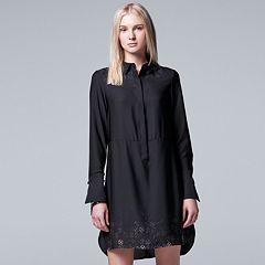 Women's Simply Vera Vera Wang Contrasting Shirtdress