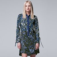 Women's Simply Vera Vera Wang Contrasting Shirtdress