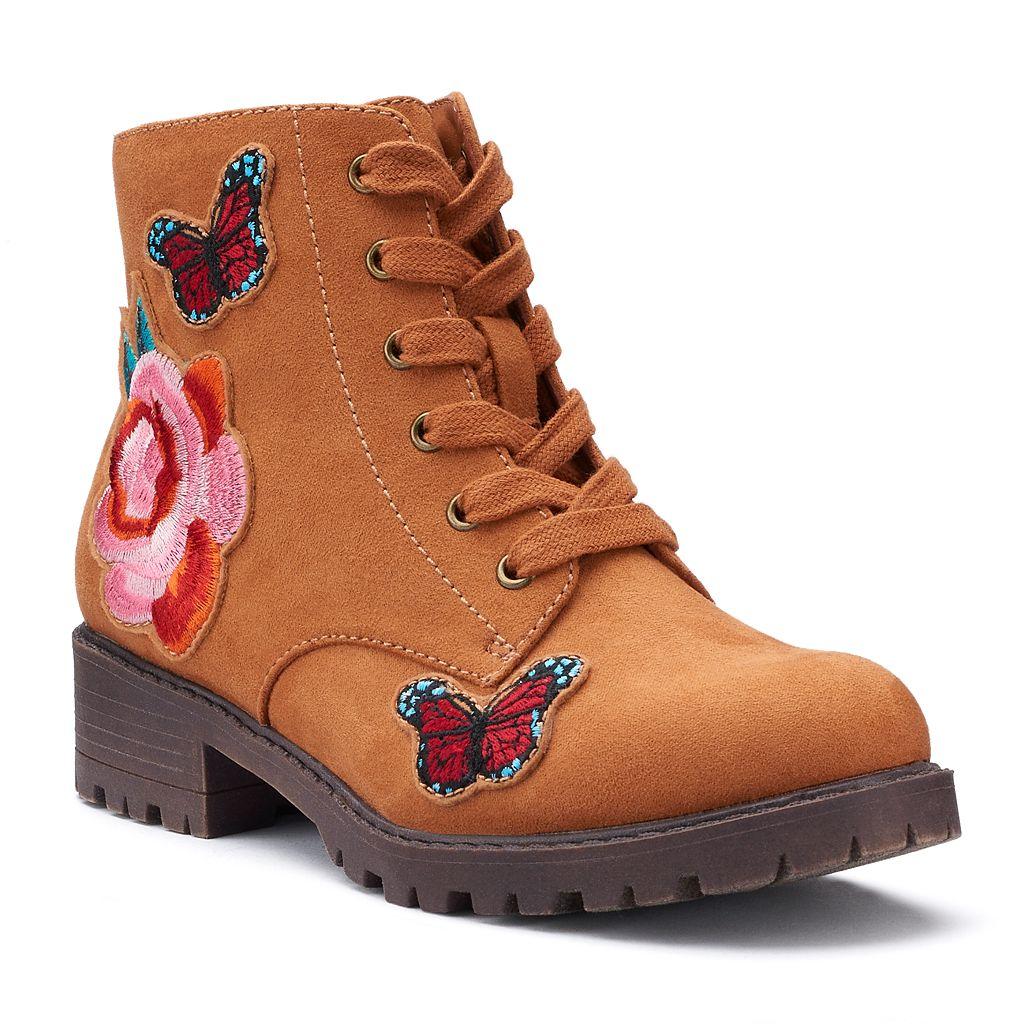 SO® Kayla Girls' Combat Boots