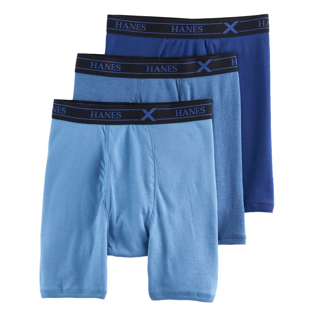 Men's Hanes 3-pack Ultimate X-Temp Comfort Dyed Boxer Briefs