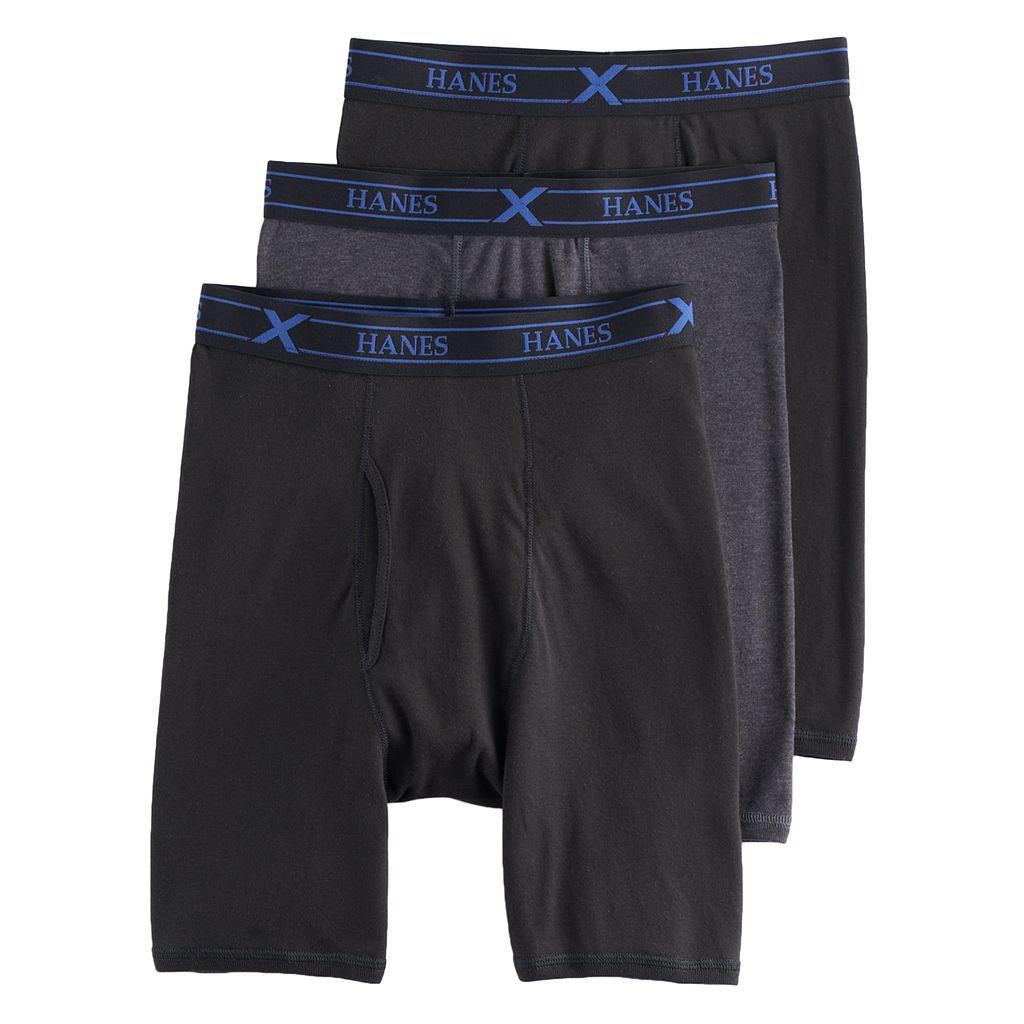 Men's Hanes 3-pack Ultimate X-Temp Comfort Long-Leg Boxer Briefs