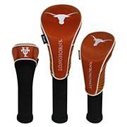 Team Effort Texas Longhorns 3 pc Club Head Cover Set