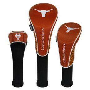Team Effort Texas Longhorns 3-Piece Club Head Cover Set