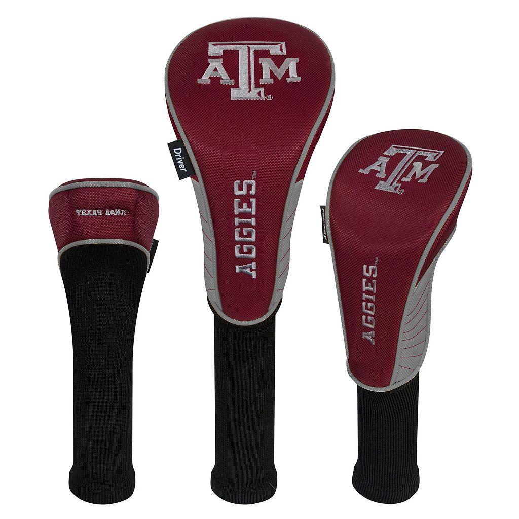 Team Effort Texas A&M Aggies 3-Piece Club Head Cover Set
