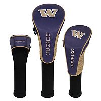 Team Effort Washington Huskies 3-Piece Club Head Cover Set