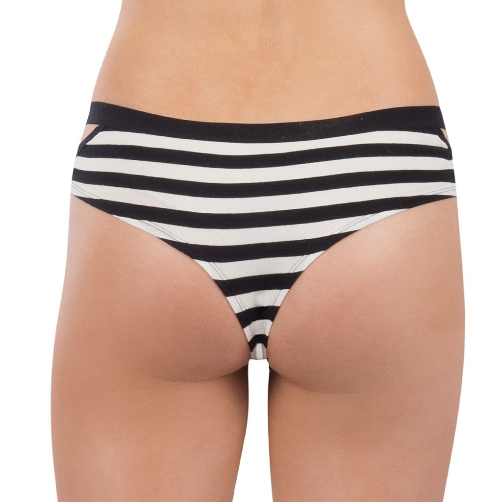 Juniors' Lemon & Bloom Elastic Cutout Cheeky Panty LBF17110