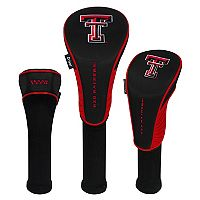 Team Effort Texas Tech Red Raiders 3-Piece Club Head Cover Set