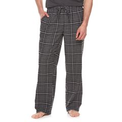Big & Tall Croft & Barrow® Plaid Flannel Lounge Pants
