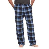 Big & Tall Croft & Barrow® Plaid Flannel Lounge Pants