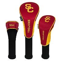 Team Effort USC Trojans 3 pc Club Head Cover Set