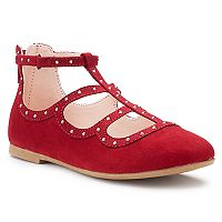 SO® Kailey Girls' Caged Ballet Flats