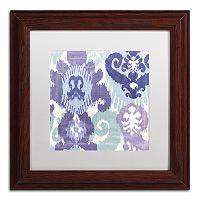 Trademark Fine Art Blue Curry I Traditional Framed Wall Art