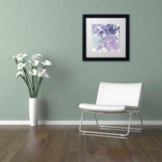 Trademark Fine Art Blue Curry II Black Framed Wall Art