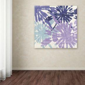 Trademark Fine Art Blue Curry II Canvas Wall Art