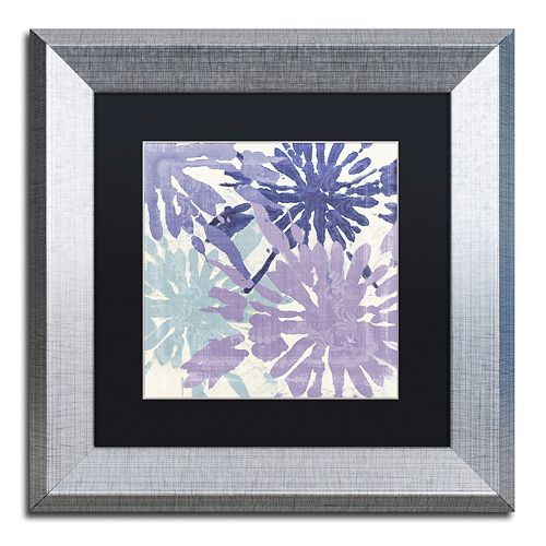 Trademark Fine Art Blue Curry II Framed Wall Art
