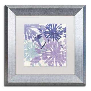 Trademark Fine Art Blue Curry II Framed Wall Art