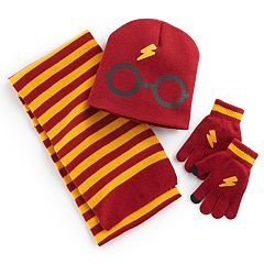 Girls 4-16 Harry Potter Hat, Scarf & Gloves Set