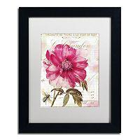 Trademark Fine Art Pink Peony Black Framed Wall Art