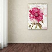 Trademark Fine Art Pink Peony Canvas Wall Art