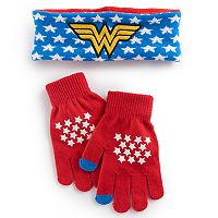 Girls 4-16 DC Comics Wonder Woman Headband & Gloves Set