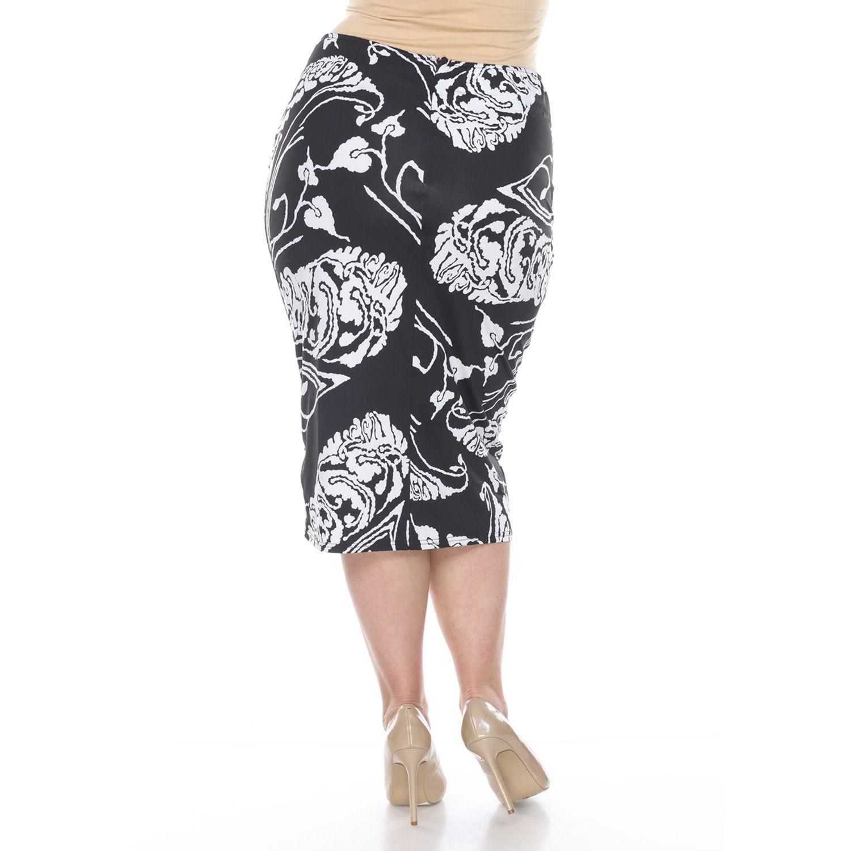 0fb954b6f Pull On Stretch Denim Pencil Skirt