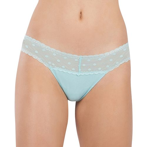 Juniors' Lemon & Bloom Polka Dot Mesh Thong Panty LBF17101