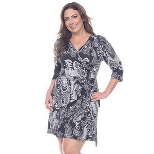 Plus Size Suite 7 Colorblock Wrap Dress