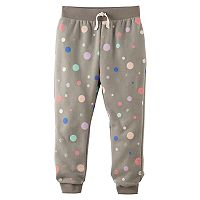 Toddler Girl Jumping Beans® Polka-Dot Fleece Jogger Pants