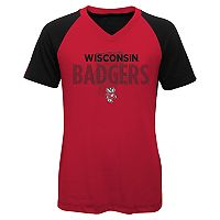 Girls 7-16 Wisconsin Badgers Decoder Tee