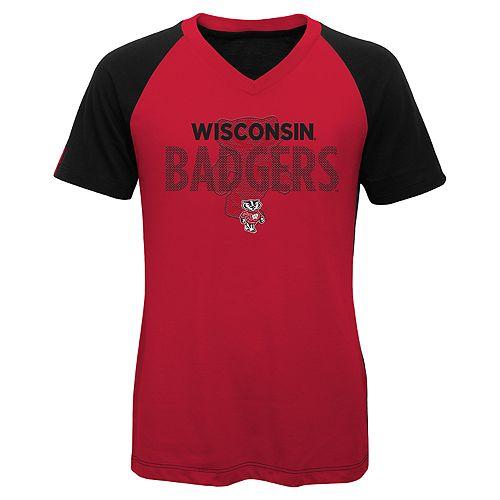 Girls 7-16 Wisconsin Badgers Decoder Tee