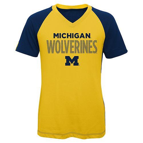 Girls 7-16 Michigan Wolverines Decoder Tee