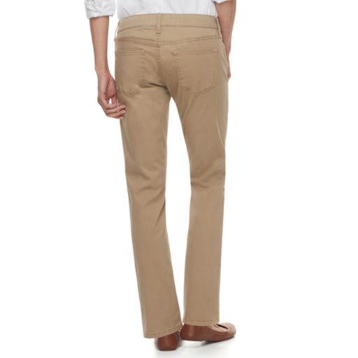Petite SONOMA Goods for Life™ Twill Straight-Leg Pants