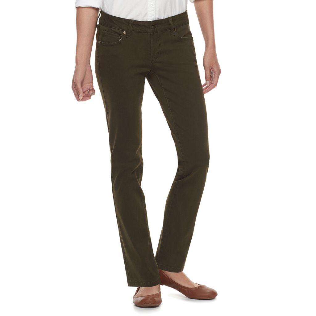 Petite SONOMA Goods for Life™ Twill Straight-Leg Pants