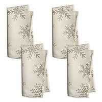 St. Nicholas Square® Metallic Snowflake Napkin 4-pk.