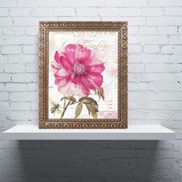 Trademark Fine Art Pink Peony Ornate Framed Wall Art