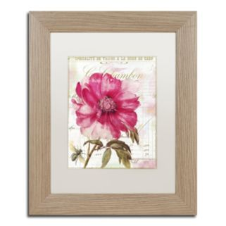 Trademark Fine Art Pink Peony Distressed Framed Wall Art