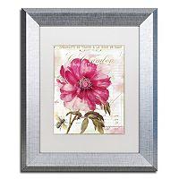 Trademark Fine Art Pink Peony Framed Wall Art