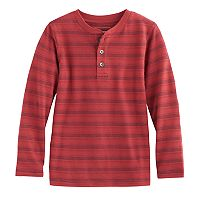 Boys 4-7x SONOMA Goods for Life™ Long-Sleeved Jacquard Henley